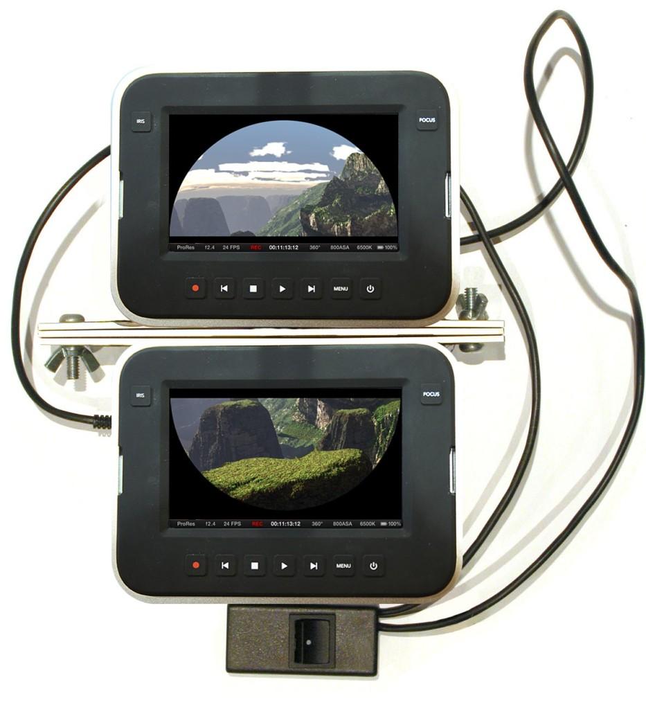 Fulldome BlackMagic Movie Camera rig